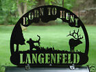 Bow Hunter MAILBOX TOPPER Address Plaque Personalized Elk Sportsman Hunting