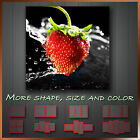 ' Strawberry Water Splashing Kitchen Art ' Modern Kitchen Wall Art Deco Canvas