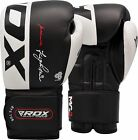 RDX Ultra Gold Leather Boxing Gloves Fight,Punch Bag MMA Muay thai Grappling Pad
