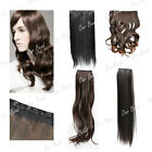 "Half Head Clip In Human Hair Extension New Style 16"" 18"" 22"" 24"" Hairpiece"