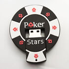 Poker Stars Shape Rubber USB 8GB 16GB Flash Drive Stick Pen Thumb Memory