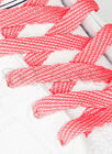 FLAT BRIGHT NEON PINK SHOE LACES LONG SHOELACES BOOTLACES - FREE UK P&P!