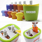 New Zoku Single/Duo Quick Pop Maker Ice Cream Popsicle w/Sticks Drip Guards Kit