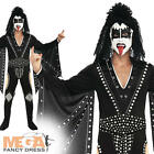 Kiss 'The Demon' Fancy Dress Men's Music Celebrity Halloween Rock Outfit Costume