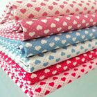 TINY HEARTS & DOTS 100% COTTON FABRIC per m  PATCHWORK & FASHION spots