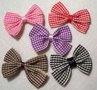 LOT 2 NOEUDS RUBAN CARREAU PIED de POULE **3 x 4 cm** COUTURE BARRETTE
