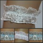 Satin and Lace BRIDAL HEN PARTY Garter with a touch of Something Blue