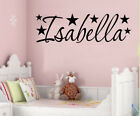 PERSONALISED NAME STARS WALL ART STICKER QUOTE DECAL BOYS GIRLS NURSERY DECOR
