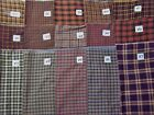 Woven homespun 100% cotton fabrics plaid Old Glory Country Cupboard Rustic Woven