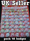 WHOLESALE RETAIL PACK 48 GIRLS CUTE JAPANESE RED ALI FOX BADGES PARTY BAG GIFT