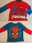 MARVEL Boys 2T or 3T Spiderman Blue Red Long Sleeve Shirt Choice NWT