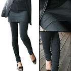 Skirt Leggings Women Warm Sweater Tights with Knit Kintted Skirt Korean Fashion
