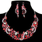 Stunning Party Necklace Earrings Sets Swarovski Crystals Women Costume Jewelery