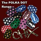 CHIX Nail Wraps Foils POLKA DOT  Finger Toes Trendy Vinyl Art Nails Christmas