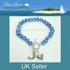 Personalised Freshwater Pearl Blue Bracelet 7.5 inch / 19cm, Ideal Gifts
