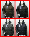 FREE UK P/P - Fleece Lined Hooded Hoody PUFFER Jacket Coat Detachable Hood