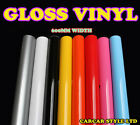 【Gloss 0.6m(23.6in)x2m(78.7in)】 Vehicle Wrap Vinyl Sticker ALL COLOUR