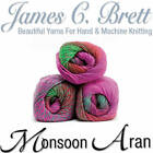 James C Brett Monsoon Aran Knitting Yarn 100g Balls Choose Your Colour