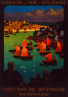 Decor Poster. Fine Graphic Home Art Design. Chemins de Fer Sud Bretagne. 2726