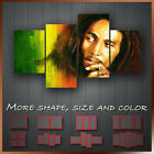' Bob Marley ' Music Icon Wall Art Box Split Canvas More Size & Color ~ 4 Panels