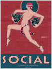 Social Magazine Cover La Habana Cuba Decor Poster. Fine Graphic Design. 3067