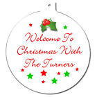 Personalised Family Couple Christmas Tree Ornament Decoration Love Ball Bauble