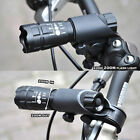 Black Bike Bicycle Front Light Or CREE Q5 LED Flashlight 240 LM Torch Or Clip