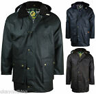 "MENS OXFORD BLUE COUNTRYMAN PADDED WAX JACKET  ""ALL SIZES"""