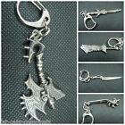 COLLECTOR'S WORLD OF WARCRAFT SMALL BLADE WEAPON 7 DESIGNS KEYRINGS UK SELLER