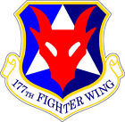STICKER USAF 177TH FIGHTER WING DECAL B