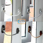Window/Door Restrictor Child Home Safety Lockable Flexible Cable Wire UPVC Wood