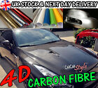 NEW 4D GLOSS【AIR Free Carbon Fibre Vinyl】Wrap Textured 4 CAR ALL SIZE/ALL COLOUR