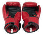Starlite Red Leather Training-Fighting Boxing Gloves 10oz-12oz-14oz-16oz