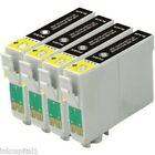 4 x Black Inkjet Cartridges Non-OEM Alternative For Epson 18XL -T1811