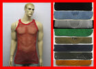Cotton String Mesh Fishnet Muscle Vest Singlet Rasta