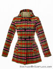 Ladies Hooded Duffle Jacket, Bruce of Kinnaird Tartan, All Sizes