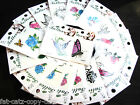 4x MENS LADIES KIDS QUALITY ARTY TEMPORARY TATTOOS DRAGON EAGLE ROSE BUTTERFLIES