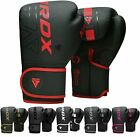 Auth RDX Leather Gel Boxing Gloves Fight,Punch Bag MMA Muay Thai Grappling GI US