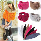 Flower Crochet Knit Knitted Headwrap Headband Ear Warmer Hair Head Band Winter