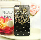 3D Bling handmade royal crown crystal hard Case cover skin for iPhone 4 4S 5 5G