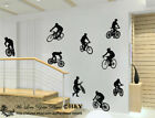 Cyclist Cycling Biking Wall Art Decals Vinyl Sticker Removable Mural Sport Decor