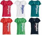 NEW Aeropostale Womens Aero Vertical Logo Graphic V Neck Tee Shirt Sz M L XL XXL