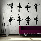 Large Set of 8 Ballet Dancing Dancer Room Removable Wall Sticker Vinyl Decal Art