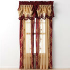 Regal Home Danbury Embroidered Curtain Panels & Valances - Assorted Colors