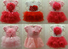 Girls Kids Pettiskirt Tutu Skirt 2-8Y Baby Party Dress Flower Pettidress Clothes
