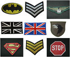 VARIOUS MILITARY SUPERMAN BATMAN SERGEANT SMILEY STOP SIGN IRON SEW ON PATCHES