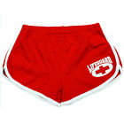 Ladies American Apparel Red & White Retro Lifeguard Cheer Leader Sports Shorts