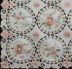Spring Embroidered Pink Rose Daisy Floral Placemat Table ...