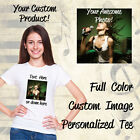 Personalized Custom T-Shirt with Photo & Text or Logo on 100% Cotton White Shirt