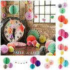 Decorations★Honeycomb★Fans★Garlands★Balls★Tissue★Paper★Wedding★Party★Vintage